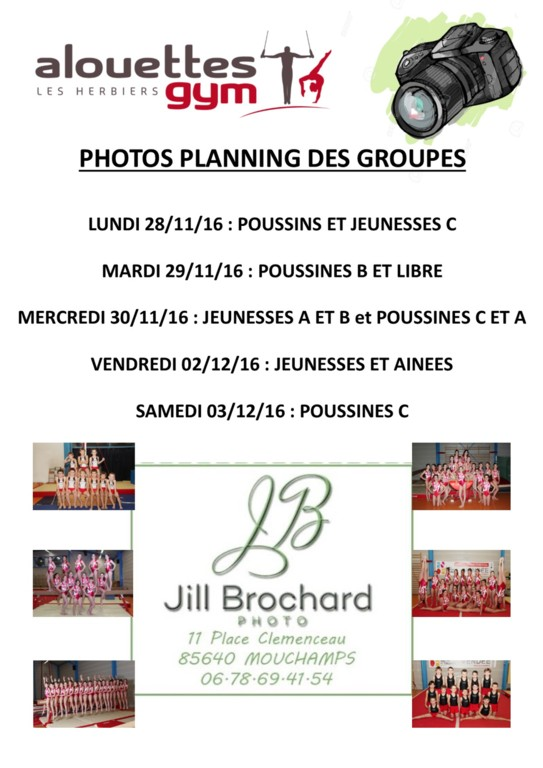 PHOTOS : PLANNING DES GROUPES